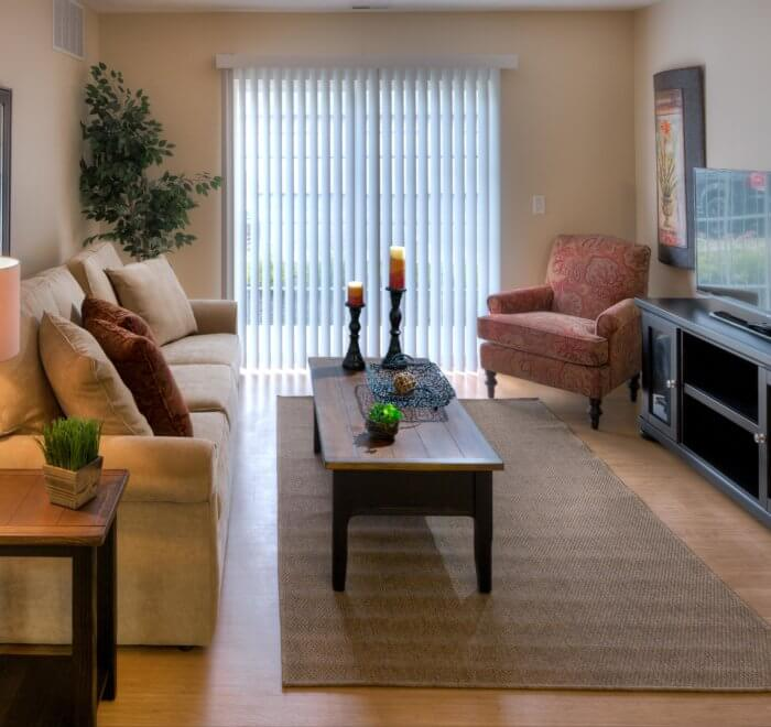 Apartment living room with nice furniture