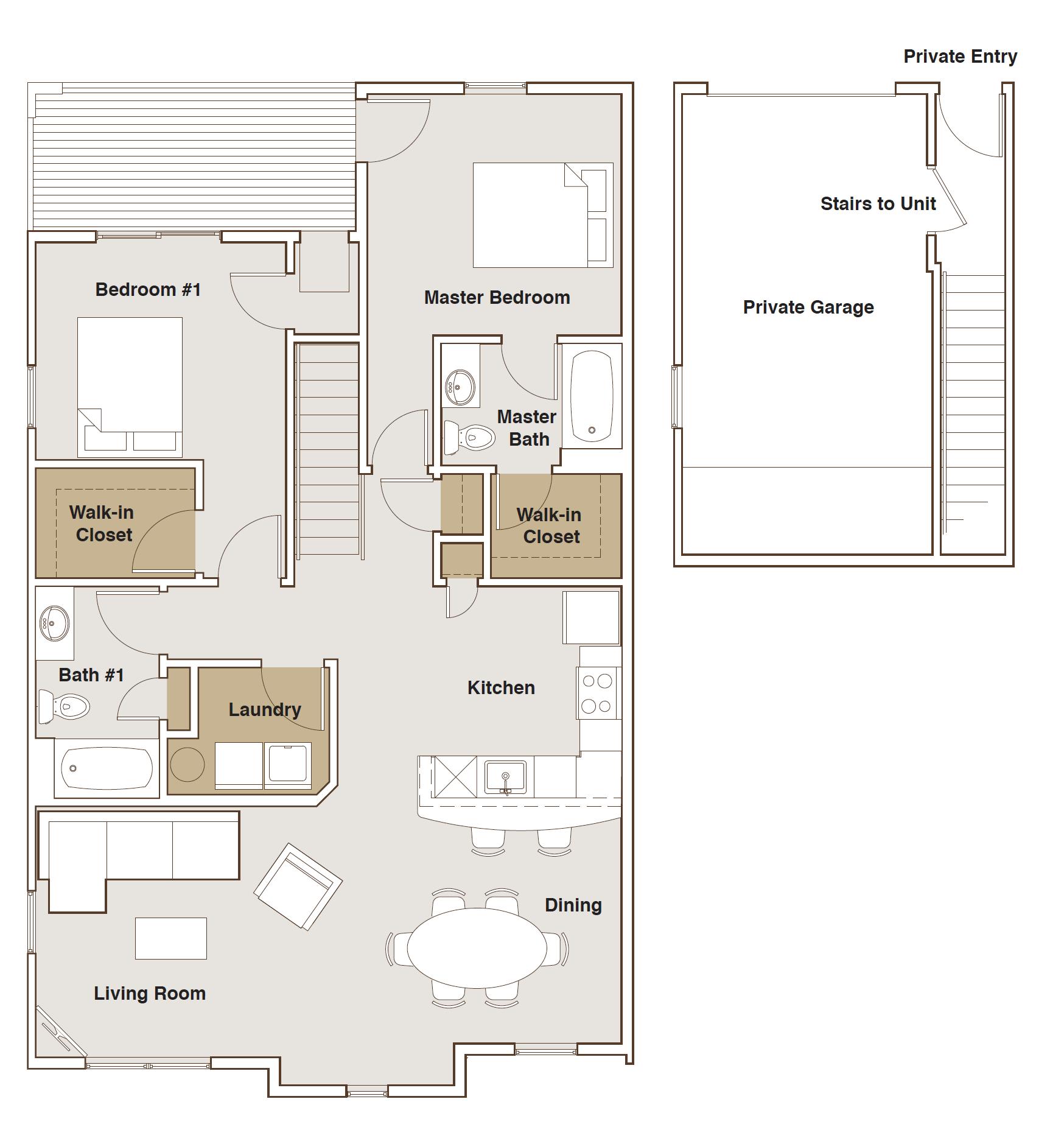 2 BEDROOM WITH GARAGE